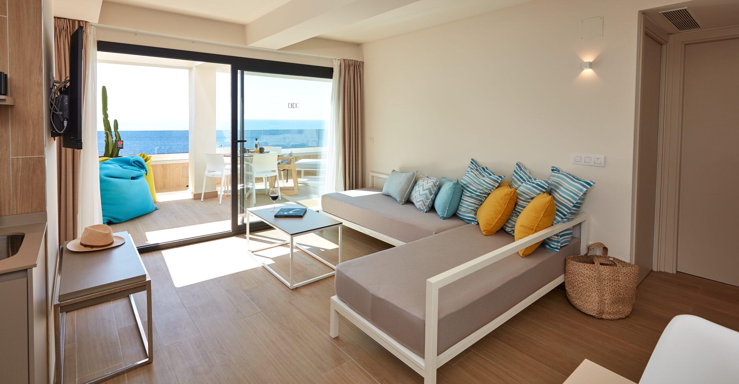 Habitaciones con vistas al mar en Benidorm